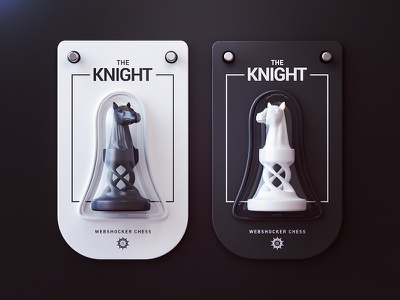 The Knight king queen bishop knight pawn rook game design 3d print product chess webshocker