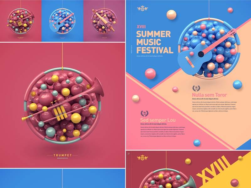 Music Project on Behance festival website print art abstract project music behance webshocker