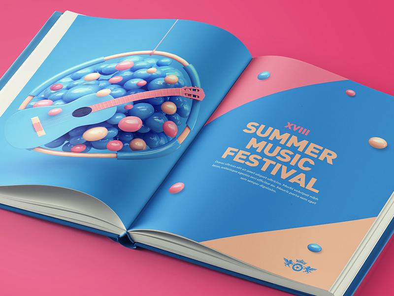Music - Book summer print guitar abstract festival cover book music webshocker