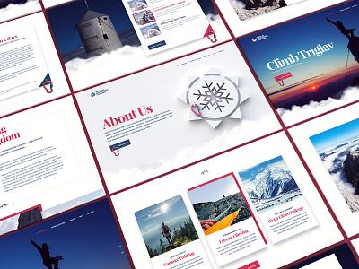 Climb Triglav - Behance ux ui adventure triglav web design agency website webshocker
