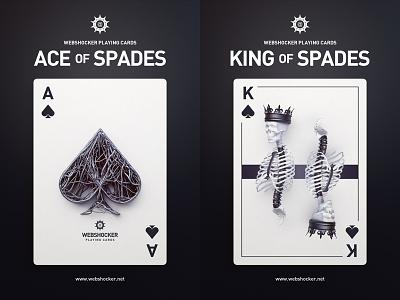 Posters joker spades jack queen king ace poker playingcards poster 3d design webshocker