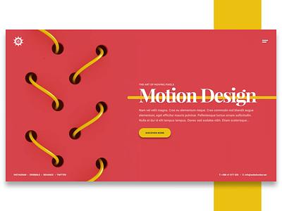 Motion Design web design company agency porfolio ux ui website animation 3d design webshocker
