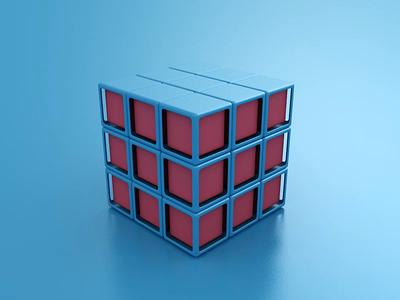 Cubes loop abstract website icon render animation 3d design webshocker