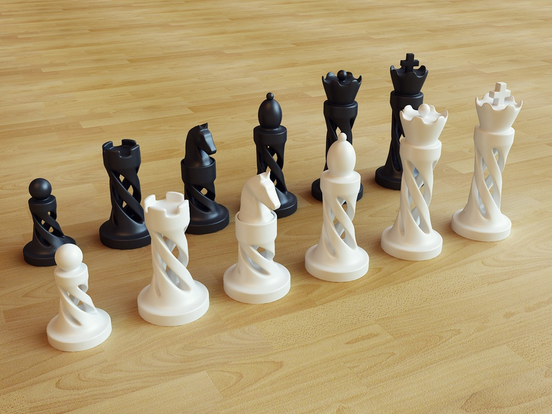Chess - 3d Print game render 3d print chess 3d design webshocker
