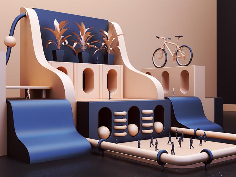 Shapes - details print art abstract vray 3d render shapes webshocker