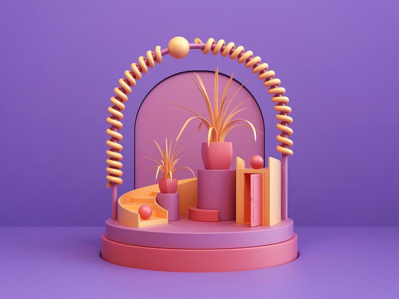 Shapes - composition abstract art composition shapes render 3d design webshocker