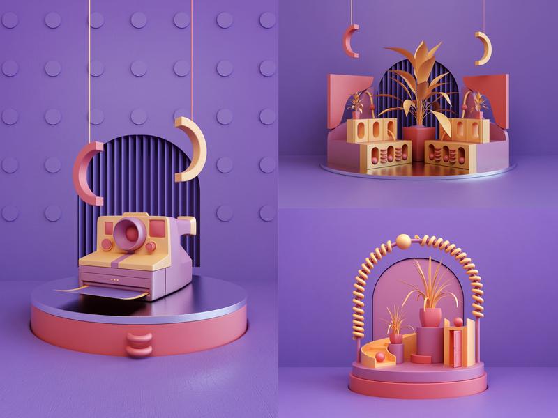 3d Compositions - Behance artwork compositions art abstract render 3d design webshocker