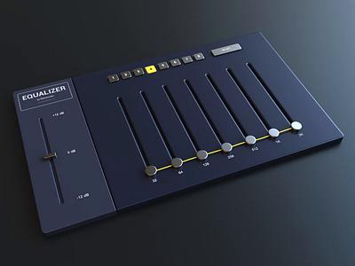 Equalizer Animation ui music equalizer render animation 3d design webshocker