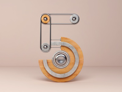 5 3dsmax vray 3d modeling abstract type 5 number icon render 3d design webshocker