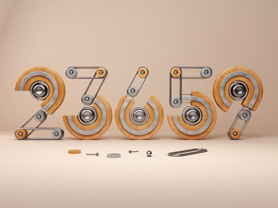 23659 3dsmax vray typography numbers illustration abstract website render 3d design webshocker