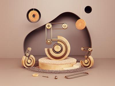 653 typography design 3 5 6 typography numbers branding illustration render 3d design webshocker