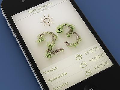Weather webshocker 3d design iphone weather app