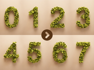 Weather numbers animation