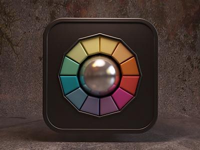 iColorama icon webshocker icon ios 3d design photoshop
