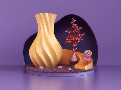 Animation II 3dsmax vray art composition abstract render animation 3d design webshocker