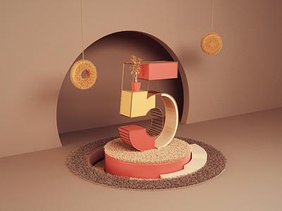 5 - animation 3dsmax vray loop 5 number art abstract website render animation 3d design webshocker
