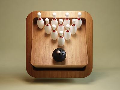 Bowling webshocker 3d ios app icon bowling game iphone ipad