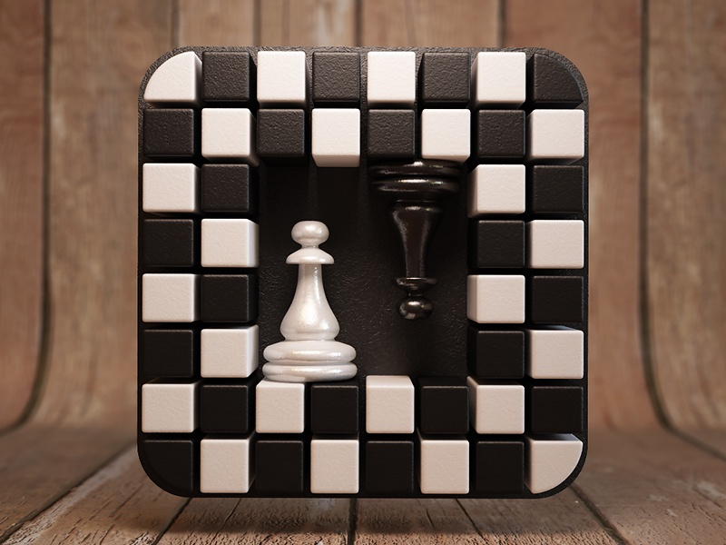 Chess webshocker 3d chess ios app icon game
