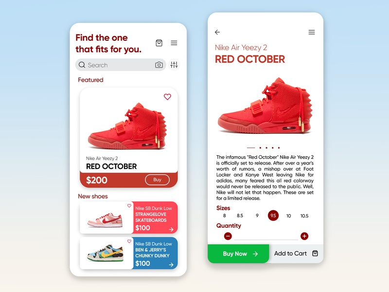 Sneaker App Design Prototype app design sneaker head sneakerhead shoes app shoes shopping shop ui design ui  ux uiuxdesign mobile design mobile ui mobile app design mobile app shopping app uiux ui mobile app sneakers