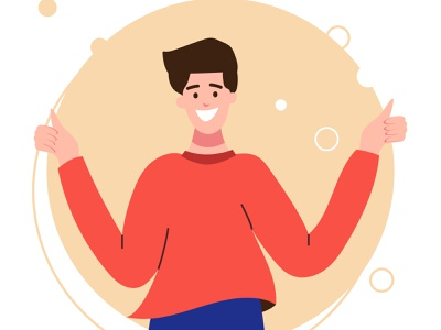 Good mood, the class design blue boy vector adobe illustrator illustration
