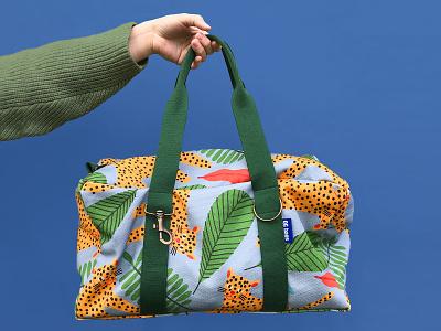 Collab with QG Bags design illustration art pattern jungle drawing vector fashion jaguar illustration textiledesign bags