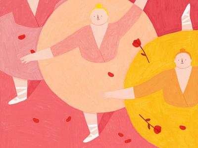 O Galeria Exhibition porto pink dance ballet exhibition coloredpencils colour illustration illustration art illustrator
