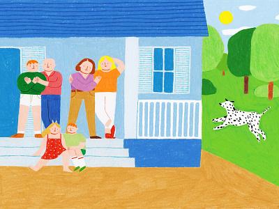 Editorial Illustration for Zadig family zadig magazine illustration art coloredpencils illustrator illustration editorial illustration editorial