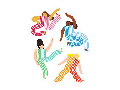 Striped Spaghetti Ladies pattern cute fashion stripes online shop print design coloredpencils illustration art illustration