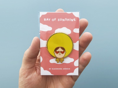 Ray Of Sunshine Pin vector fashion cute sun sunshine pin design pin design illustration art illustration