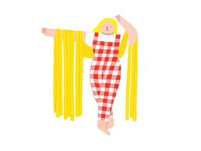 Fashion Linguine italy pastel food pasta linguine fashion coloredpencils design illustration art illustration