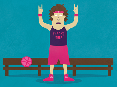 Thanks for the Draft Dale Morrell draft basketball illustration bench trainers headband thanks pink shorts