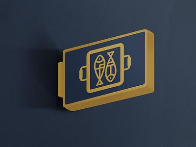 FT Monogram Mark brand premium luxury gold clean minimal monogram branding logo fish