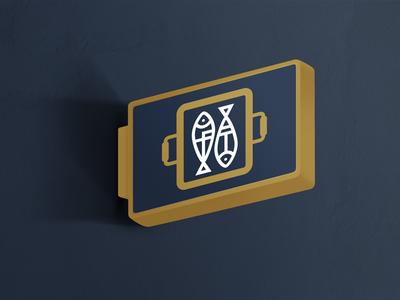 Ft Monogram Mark White brand premium luxury gold clean minimal monogram branding logo fish