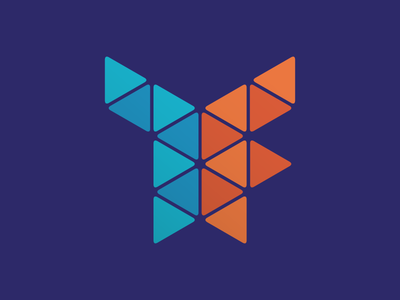 7Factor Monogram Logo tech branding brand software triangles geometric logo monogram