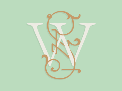 Wedding Suppliers Monogram monogram mark logo serif swash flourish ornament luxury elegant wedding