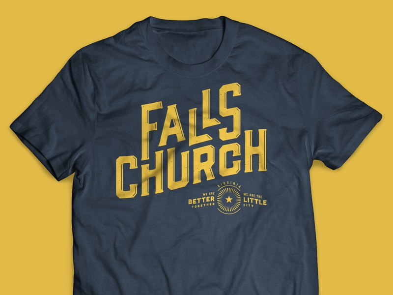 Falls Church shirt typography type