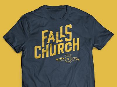 Falls Church shirt typography type