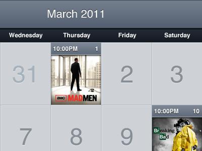 TV Forecast for iPad Calendar