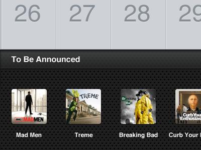 TV Forecast Portrait Calendar