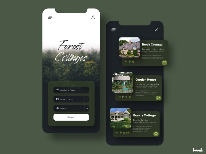 Forest Cottages design web website ux uxui userinterface uiux uidesign ui
