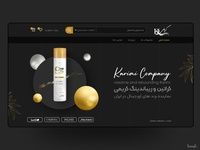 Cosmetics website black gold shampoo cosmetic website web adobe xd ux uxui userinterface uiux uidesign ui