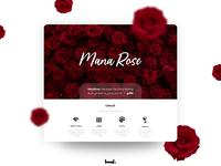 rose website flower rose website web adobe xd uiux uidesign ui
