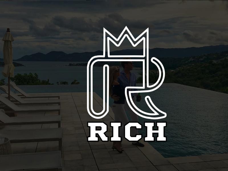 Modern Minimalist Business Logo Design | Rich Logo Design companr brand logo brandinglogo companylogo businesslogo vector minimalist logo illustration design branding