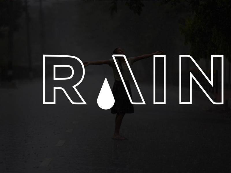 Modern Minimalist Business Logo Design | Rain Logo Design companr brand logo brandinglogo businesslogo companylogo vector minimalist logo illustration design branding
