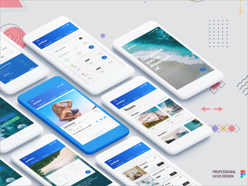 Pretium- Travel App mobile ui mobile app design travel mobile app shoping design travel  app travel typography illustration mobile design new ui design app interface app designer ui design design app design app