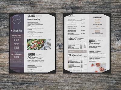 Menu restaurant - bistro illustration design print