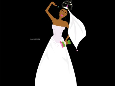 The disappointed bride illustration art minimal