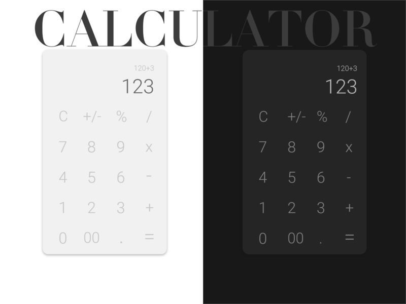 Calculator - Daily UI 004 design daily 100 challenge ux ui 004 daily ui dailyui daily calculator app