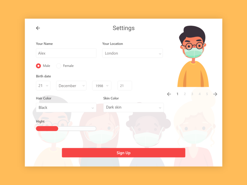 Settings - Daily UI 007 daily 100 challenge 007 daily ui daily settings game design game app