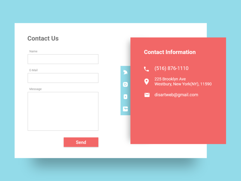Contact Us - Daily UI 028 pink blue daily ui 028 028 daily 100 challenge contact info contact us contact